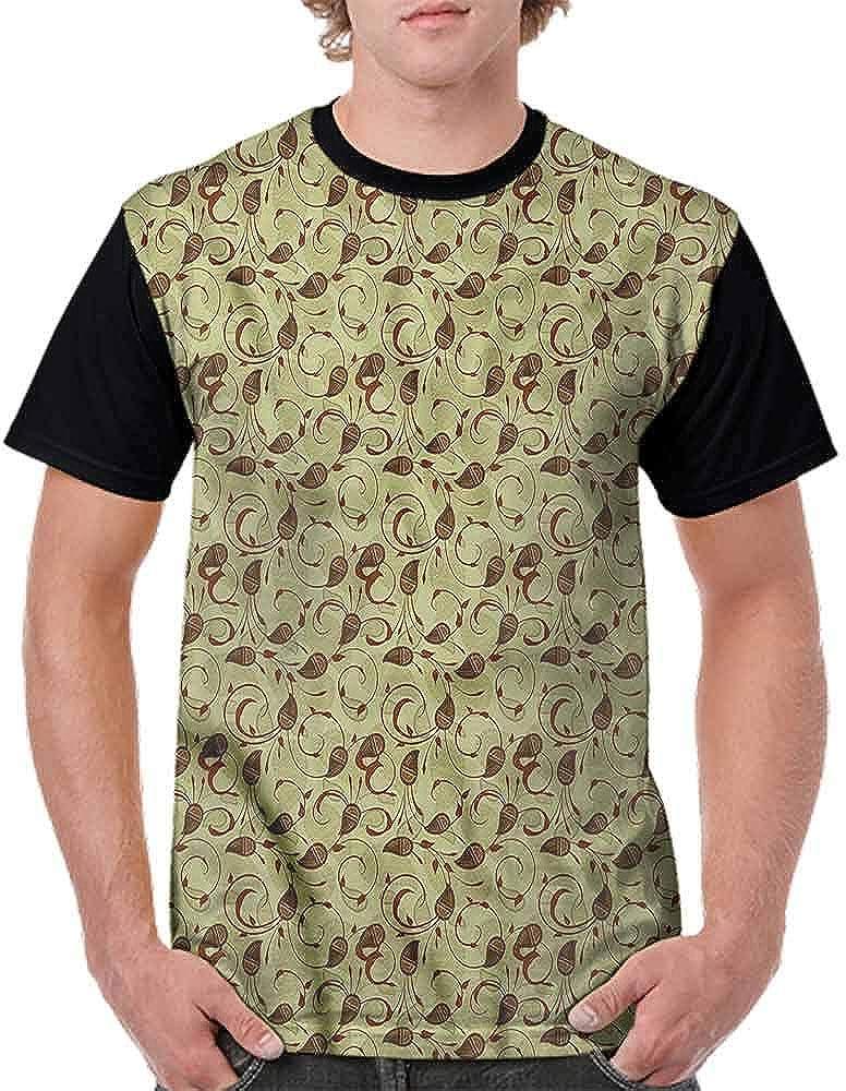 BlountDecor Loose T Shirt,Paisley of Middle East Fashion Personality Customization