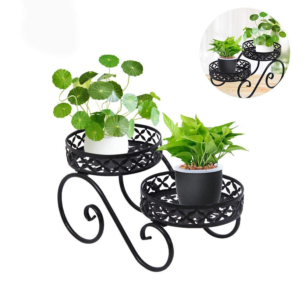 Iron Flower Plant Stand High and Low Succulent Plant Pot Rack Plant Pot Holder for Living Room Balcony Floor Bedroom
