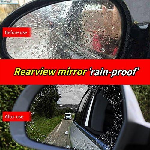 2Pcs Anti-Fog Waterproof Anti-Glare Car Rearview  Mirror Sticker Protector Film