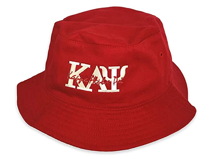 a62a6741f Amazon.com: Kappa Alpha Psi Fraternity Greek Letter Bucket Hat Red ...