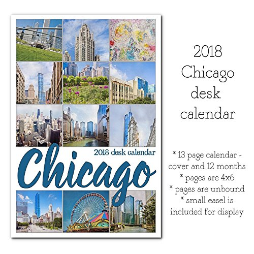 2018 Desk Calendar With Stand Downtown Chicago City Buildings Architectural - Shops Michigan Avenue