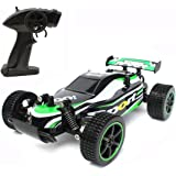 Radio Controlled Cars,Remote Control Car,CrossRace Remote Control Cars for Kids,1:20 High Speed Racing Car,2.4GHz RC Buggy off Road Vehicle(Green)