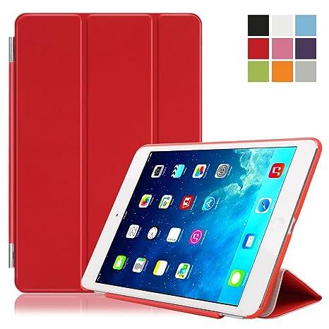 Besmall Funda Carcasa Proteccion Smart Cover per Apple iPad mini 2/3 A1489 A1490 A1599 A1600 A1601