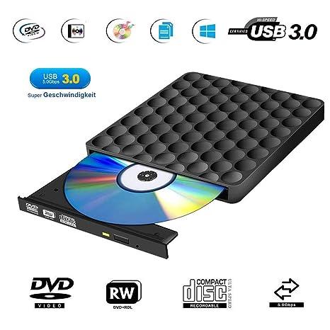 Unidad Externa USB para CD y DVD, portátil, Ultra Delgada, de Alta ...
