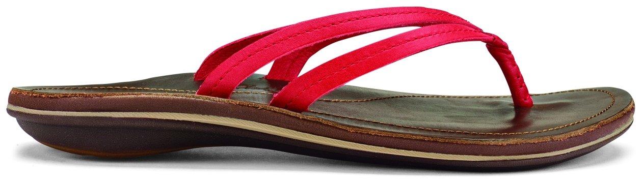 OLUKAI U'I Sandals - Women's B01HH8OZEY 8 B(M) US|Ohia Red/Dark Java