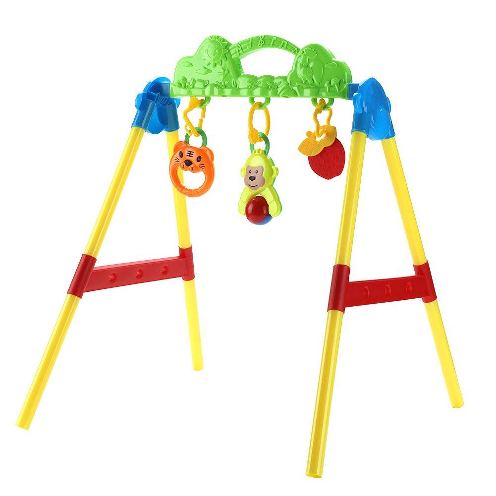 Fdit 幼児 ベビー フィットネス ラック 音楽 ハンギング ベル 早期教育 知的 ゲーム キッズ おもちゃセット   B07GXC7LPL