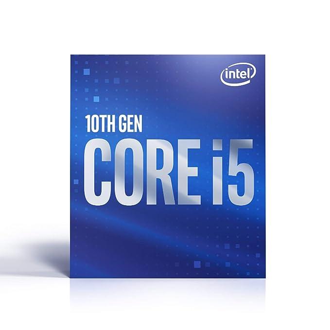 Intel Core i5-10600 (Factor de Base: 3,30 GHz; zócalo: LGA1200; Caja de 65 W).