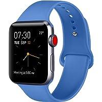 ATUP Correa Compatible con para Apple Watch Correa 38mm 42mm 40mm 44mm, Correa de Repuesto de Silicona Suave Compatible con para iWatch Series 4, Series 3, Series 2, Series 1
