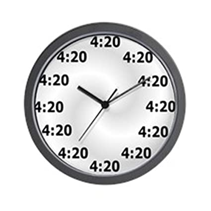 CafePress - 4:20 Wall Clock - Unique Decorative 10