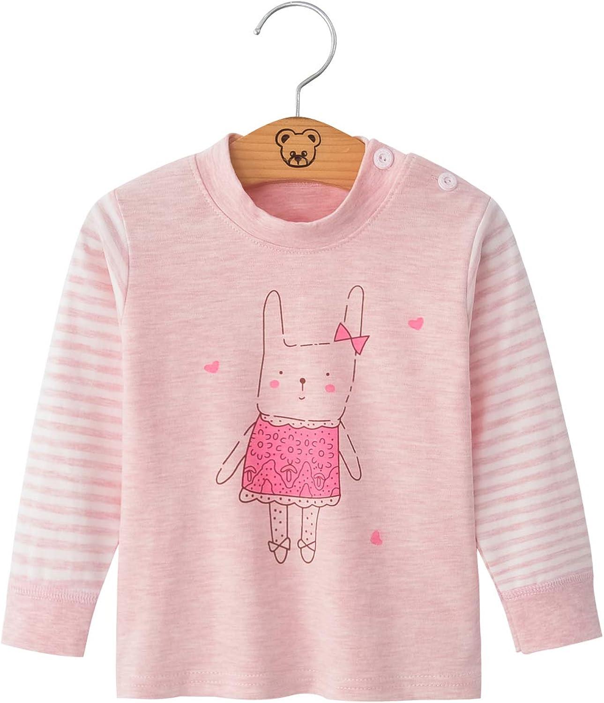 M/ädchen Jungen Unisex Langarm Hohe Taille Pyjama Pjs 100/% Baumwolle 6 Monate-5 Jahre H/öhe Gr/ö/ße 73 80 90 100 110 Chickwing Kinder Zweiteiliger Schlafanzug