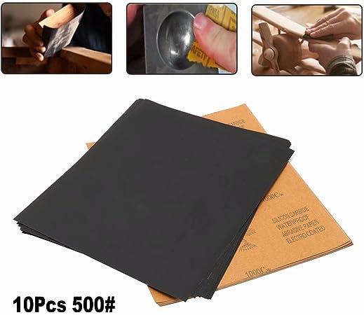 40 1//4 SHEETS SANDPAPER 240 1000 600 400 1500 GRIT FOR AUTO BODY FILLER