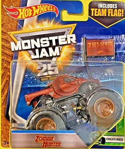 Hot Wheels Monster Jam Zombie Hunter with Team Flag 2017