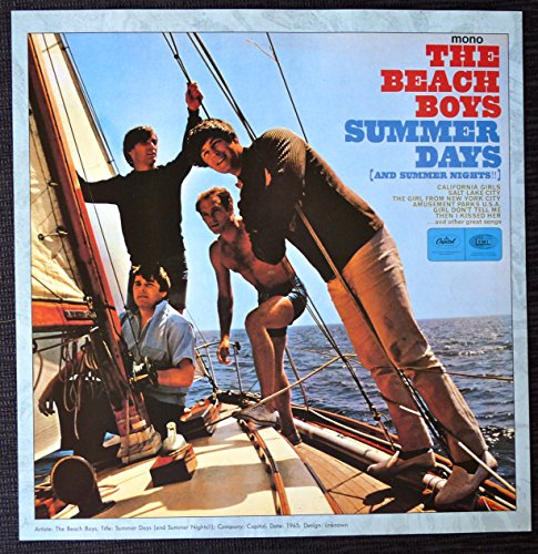 The Beach Boys - Summer Days (and Summer Nights) - Vintage Album Cover Poster