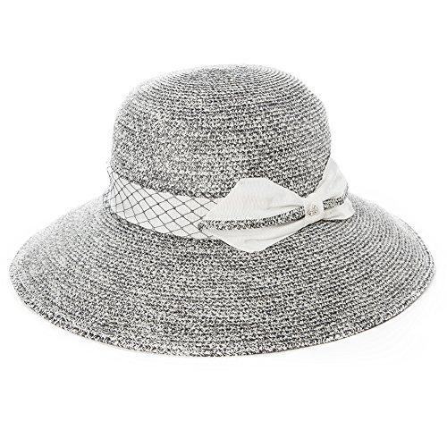 d49edd046fd Siggi Floppy Summer Sun Beach Straw Hats for Women SPF Crushable Bucket  Cloche Hat 56-