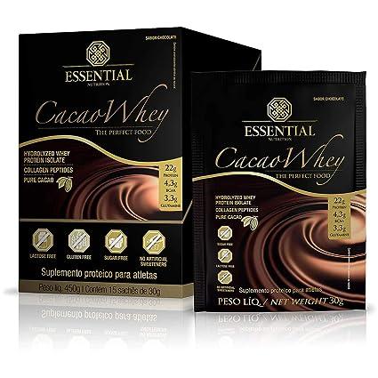 767af2723 Cacao Whey Box Essential Nutrition Box com 15 sachês  Amazon.com.br  hpc