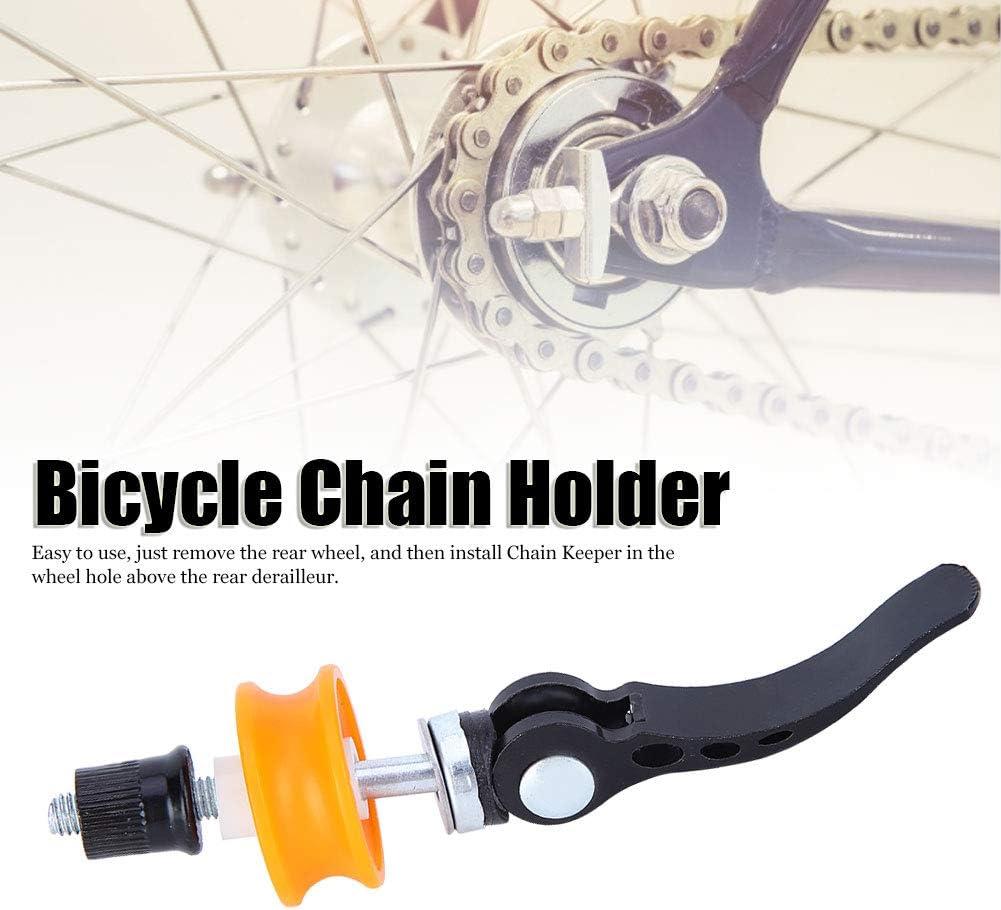 marcos de fibra de carbono para bicicletas de carretera Soporte de cadena de bicicleta de larga duraci/ón f/ácil de usar fijaci/ón de cadena de bicicleta con arandela de cadena