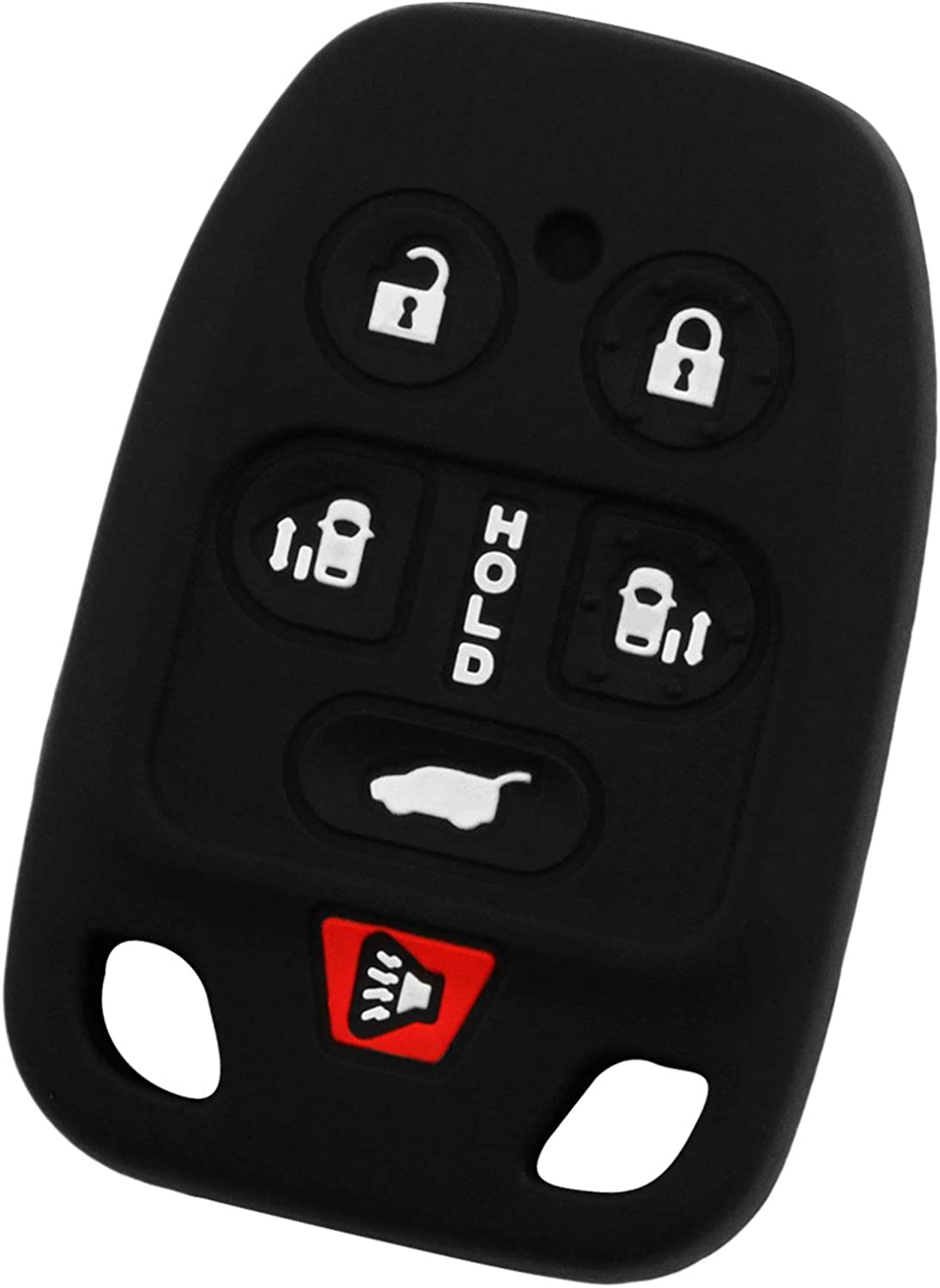 KeyGuardz Keyless Remote Car Key Fob Outer Shell Cover Soft Rubber Case for Honda Odyssey 11 12 13 14 N5F-A04TAA