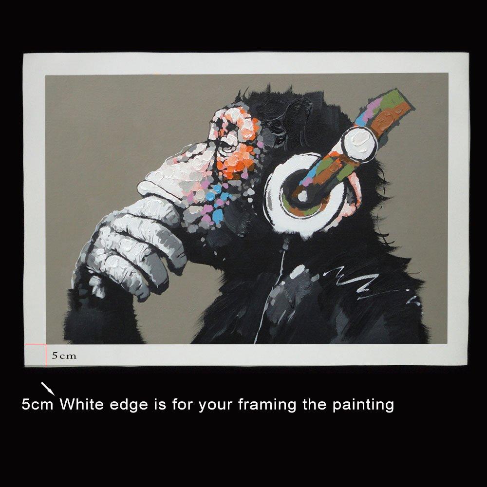 Amazon.de: 1 PCS Tier Affe Bedruckte Leinwand Gemälde Moderne Funny ...