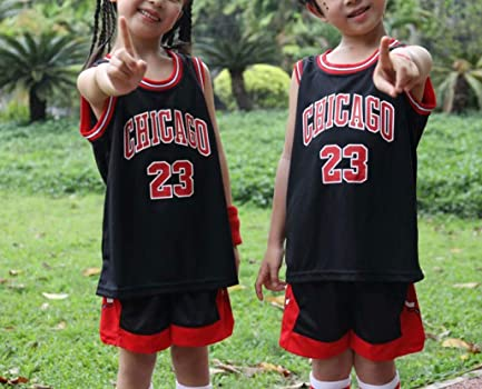 Zaldita Kids Boys Girls 2 Pcs Sports Outfit Sleeveless Tank Top Vest with Shorts Basketball Football Training Uniform