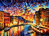 Venice Grand Canal is an artist-embellished, hand-signed and numbered Giclee on Unstretched Canvas by Leonid Afremov. Leonid issued this special edition of Limited Edition prints at our gallery's request for the Holiday Season. We bought the entire e...