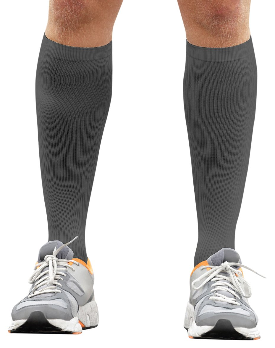 PU Health Unisex Graduated Compression Support Socks for Blood Cirulation, Swelling, Sore Muscles, 11.2 Ounce