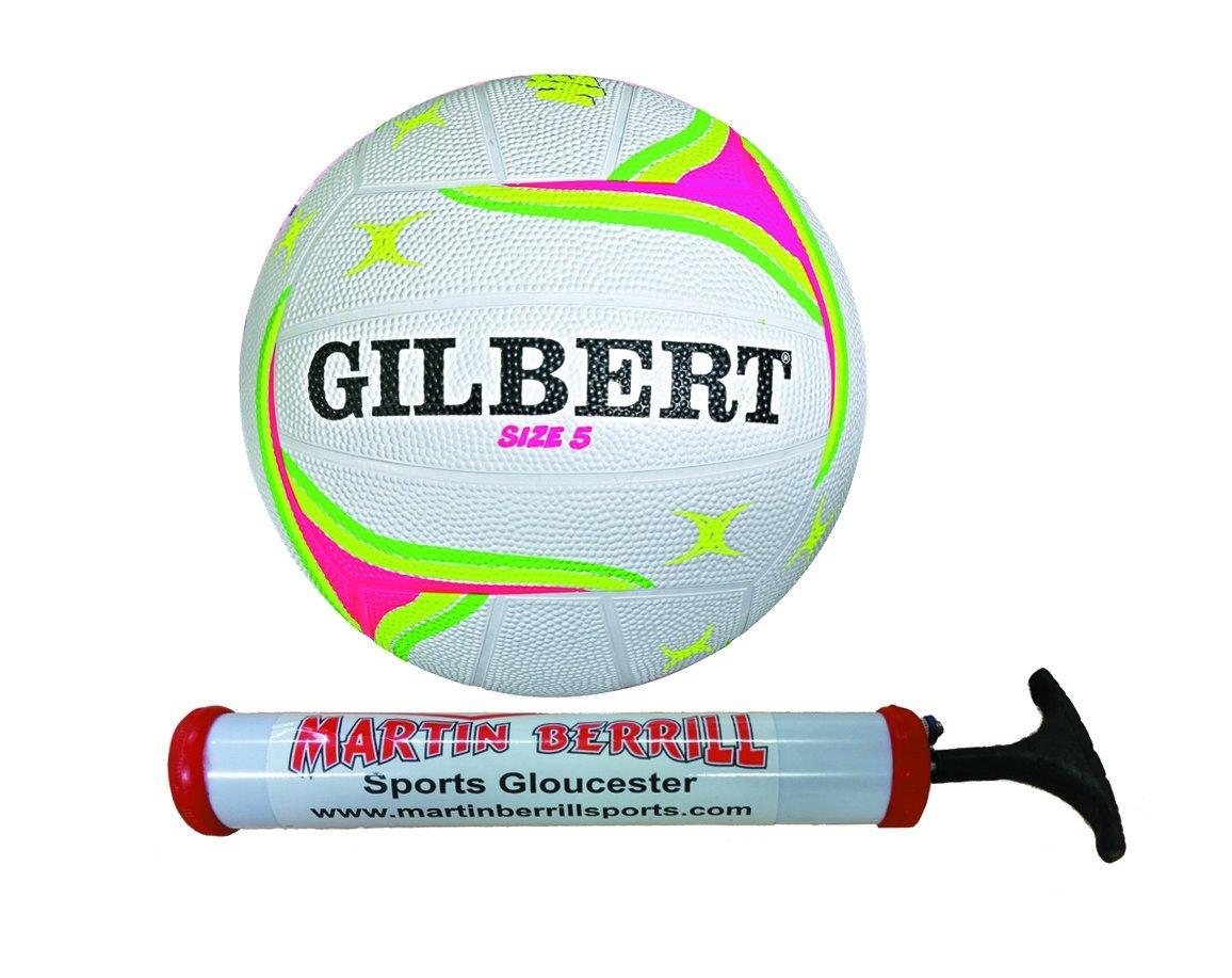 Gilbert APT Training Netball With Free Hand Pump