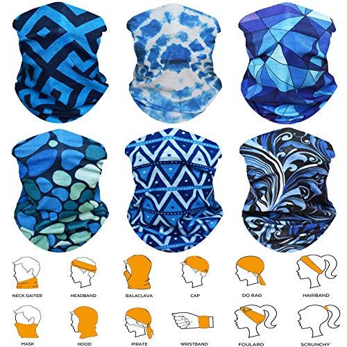 WONBURY Headband Bandana Headwear - Versatile Sports & Casual Multifunctional Seamless Neck Gaiter, Headwrap, Balaclava, Helmet Liner, Face Mask - Camping, Running, Cycling, Fishing