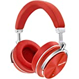 Bluedio T4S (Turbine) Active Noise Cancelling Over-Ear Swiveling Wireless Bluetooth Headphones with Mic (Red)