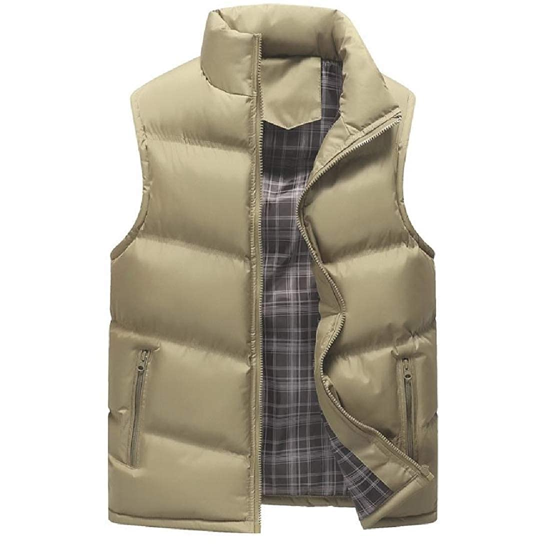 Zimaes-Men Light Weight Quilted Plus Size Packable Warm Sports Vest