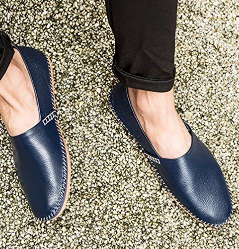 Moda Uomo Piatto Elegante Scarpe Durevole Casuale Mocassini Scivolare Dooxi Blu Scarpe XdtWqX