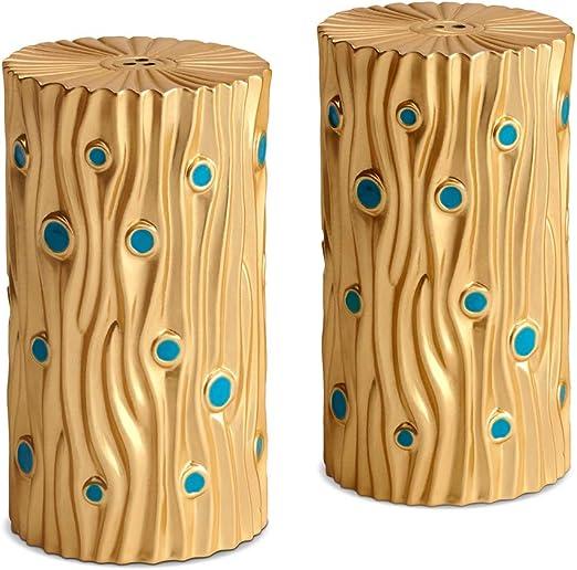 LObjet Bois dOr Salt /& Pepper Shakers Gold Set of 2 L/'Objet sp4351