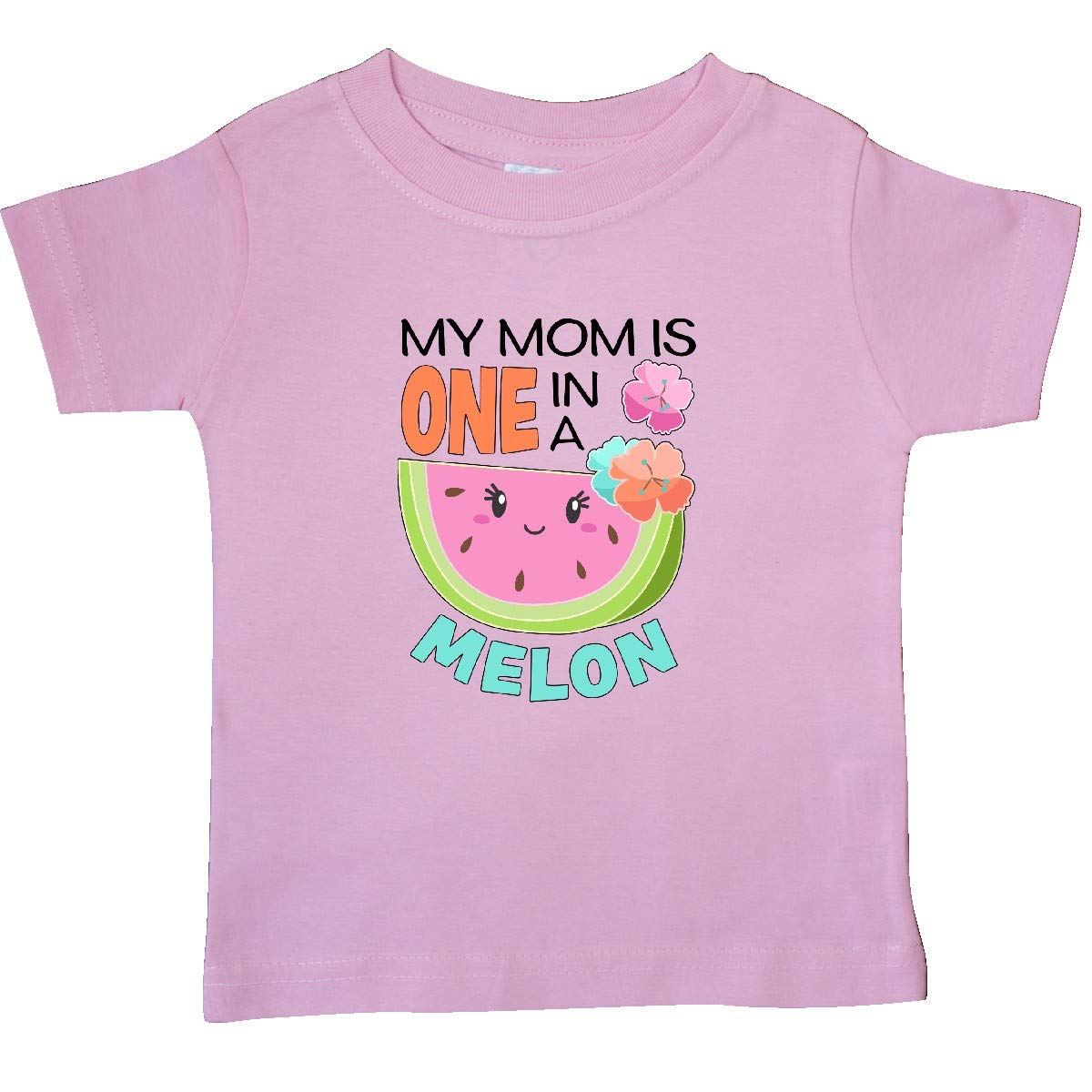 inktastic My Mom is 1 in a Melon Baby T-Shirt