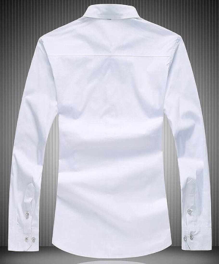 Fubotevic Mens Fall /& Winter Plus Size Solid Button Down Regular Fit Shirt Dress Work Shirt