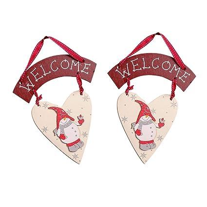 Amosfun 2 Piezas de Navidad Cartel de Bienvenida de Madera ...