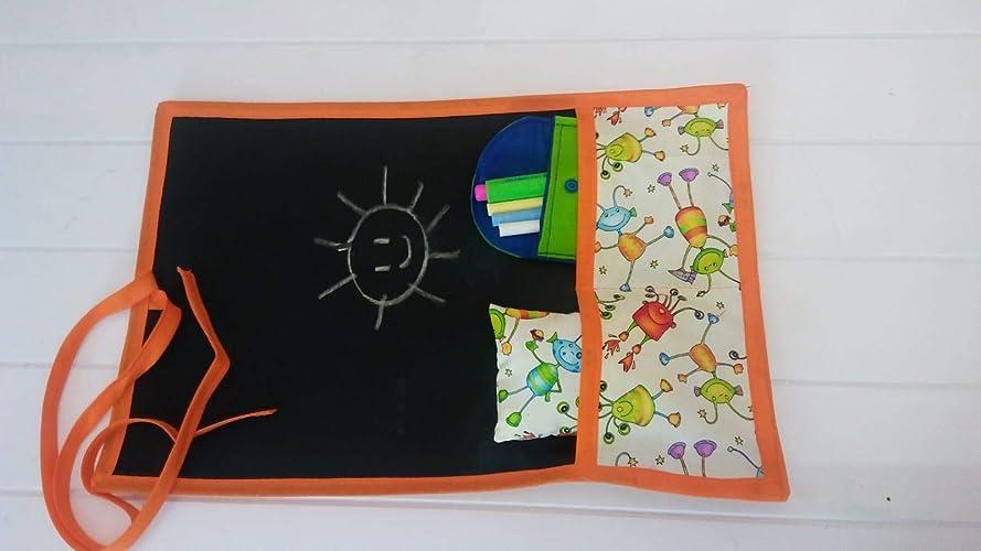 Pizarra portátil enrollable de tela Marcianitos: Amazon.es ...