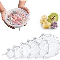 Siliconen Stretch Deksels, verschillende maten Cover voor Bowl Herbruikbaar, duurzaam en uitbreidbaar voor vele…