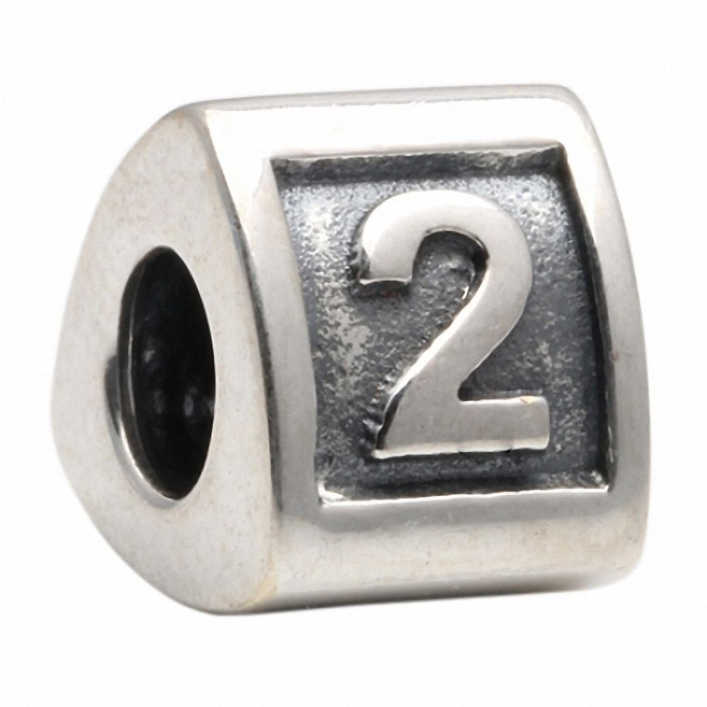 Amoro Sterling Silver Number 2 Charm