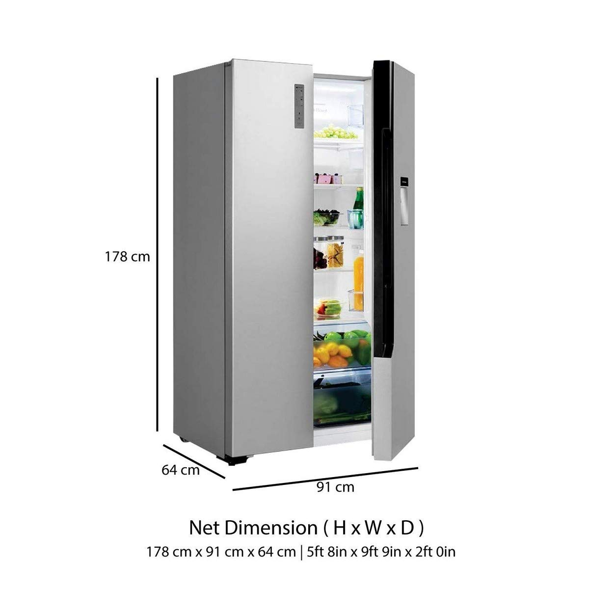 Bpl 564 L Frost Free Side By Side Refrigerator(brs564h, Silver Stereo  Receiver Wiring Diagram Bpl Refrigerator Wiring Diagram
