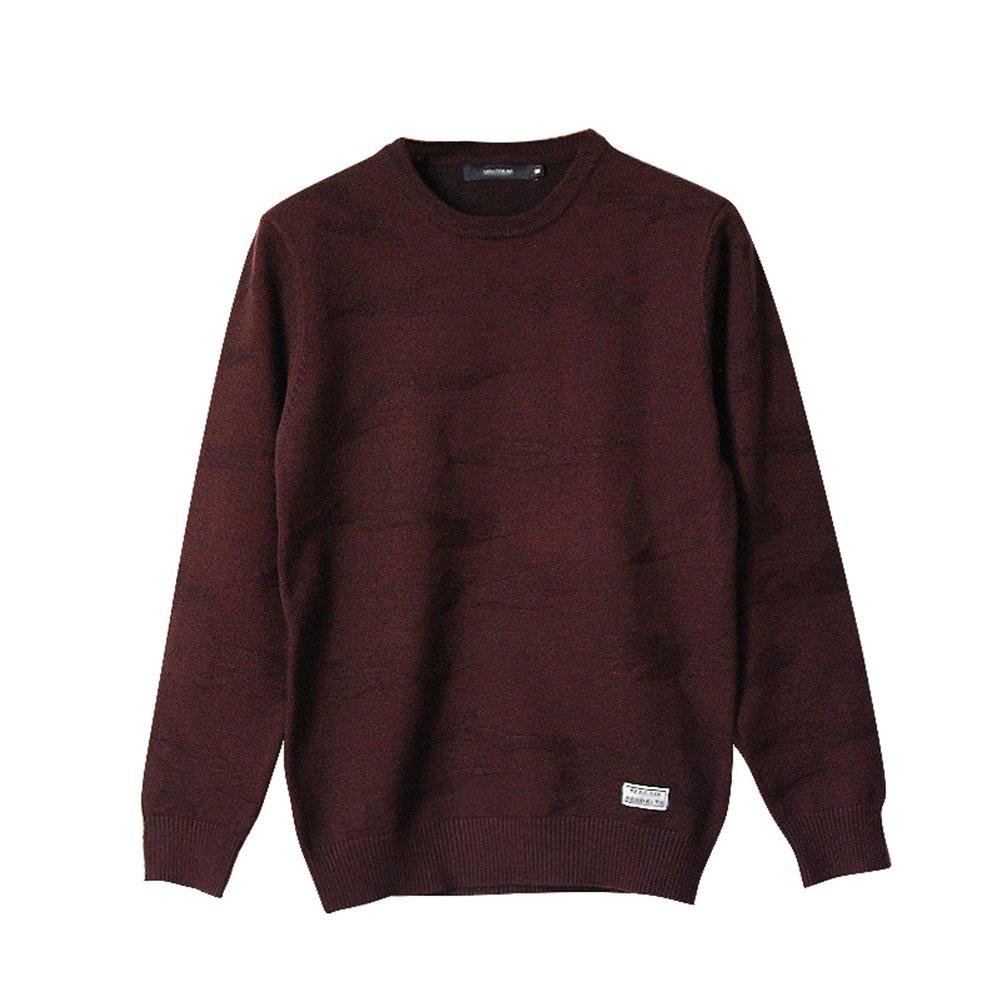 Amayar Men's Solid Pullover Sweater by Amayar