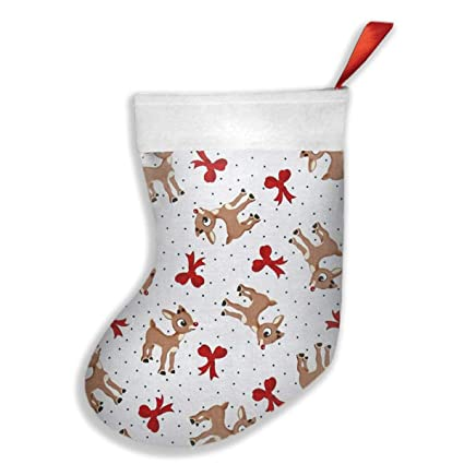 cdw63 fun with cute deer christmas stockingsstocking for giftschristmas eve hanging