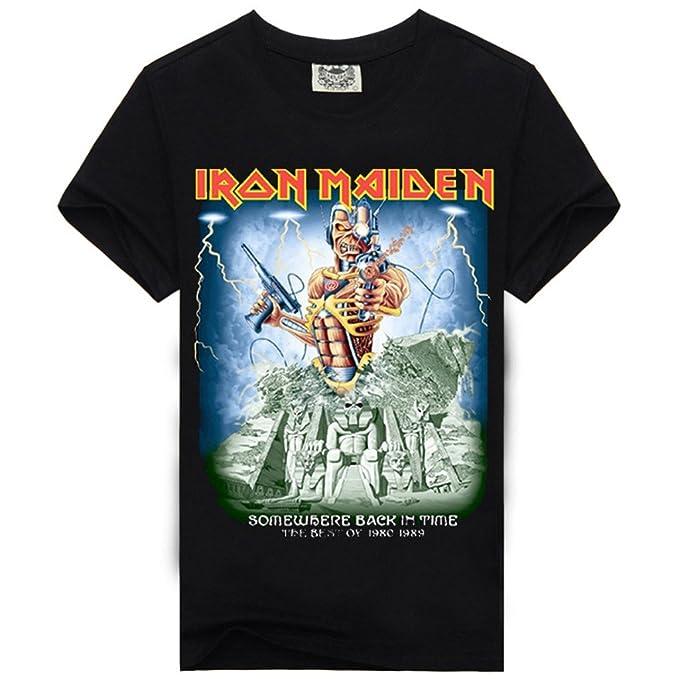 Rock Iron Maiden de verano del Sir Hombres Hombre T camiseta algodón Tops - -: Amazon.es: Ropa y accesorios