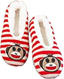 The Lakeside Collection Slippers-Monkey M/L 8.5-10
