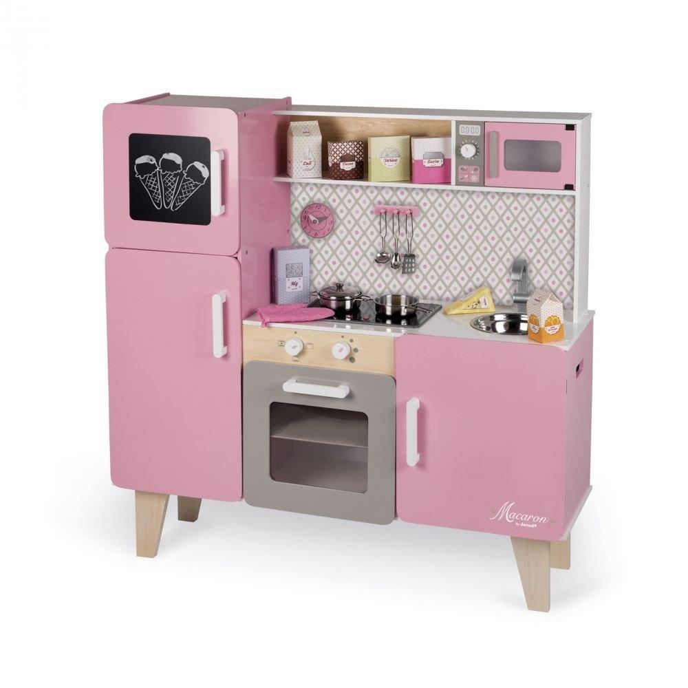 Janod J06571 Küche Macaron Maxi mit Funktionen und Zubehör
