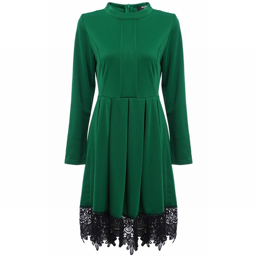 Donne Di Modo Vestono i Vestiti Dal Vestito Dal Merletto , verde , m