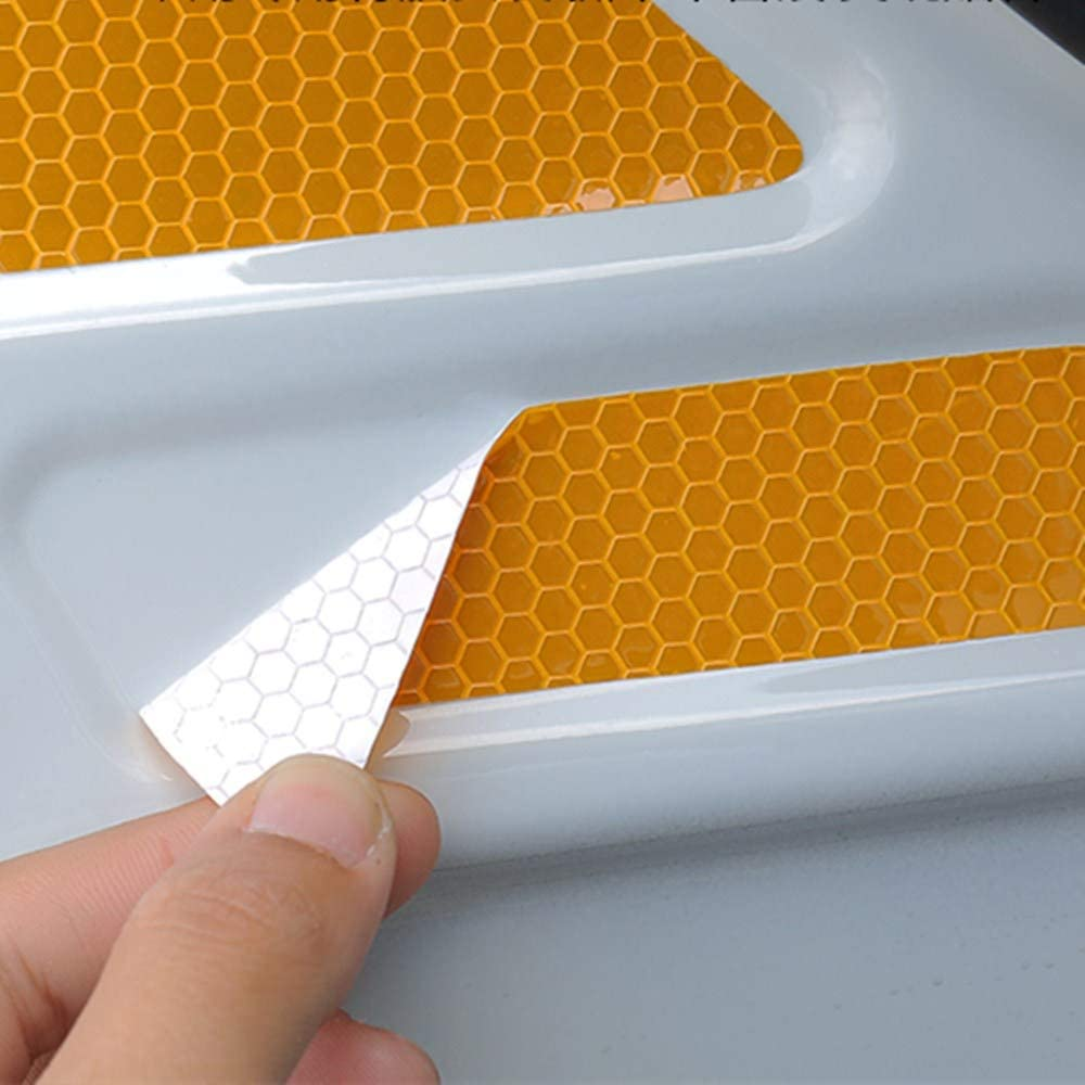 LANZMYAN Door Open Reflective Warning Stickers Auto Open Sign Anti-Collision Safety Reflective Decal Tape for Toyota RAV4 2020 Yellow