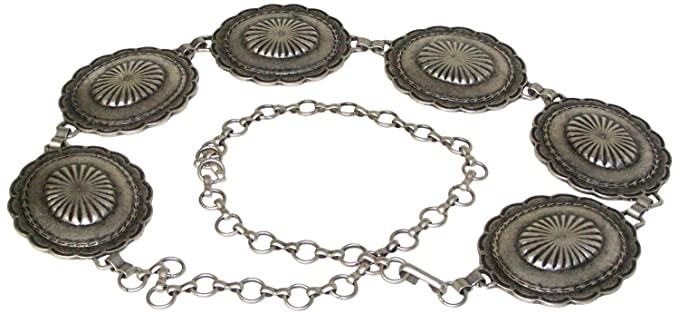 e413dc65906d Fronhofer Ceinture chaînette argentée pour femme, empiècements floraux,  ceinture à chaîne réglable, ceinture
