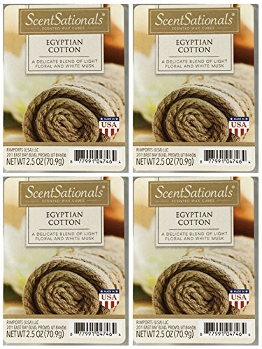 ScentSationals Egyptian Cotton Wax Cubes - 4-Pack