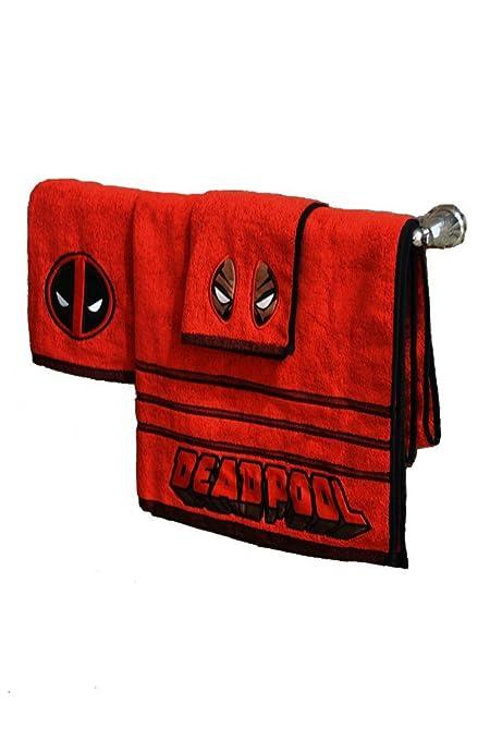 Marvel Deadpool 3 piezas de baño juego de toallas