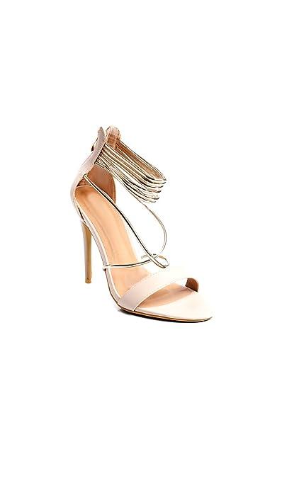 IKRUSH Women's Skylyn Faux Suede High Heels Size in Nude Size 3 sPRwIjm1ht