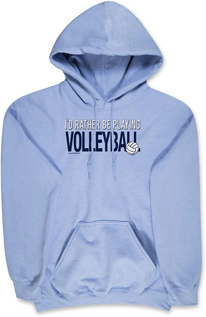 Id Rather Be Playing Volleyball Adults Sizes ChalkTalkSPORTS Volleyball Sweatshirt